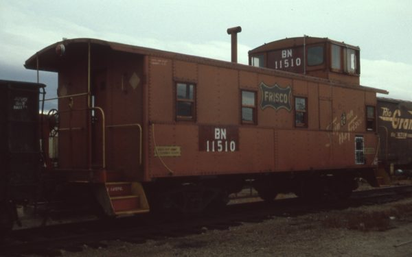 Caboose 11510 (Frisco 1142) at Fort Worth, Texas on June 14, 1981