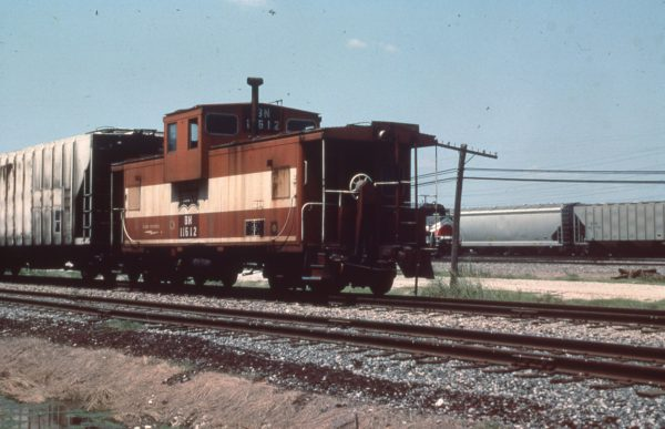Caboose 11612 (Frisco 1284) at Fort Worth, Texas on August 20, 1990