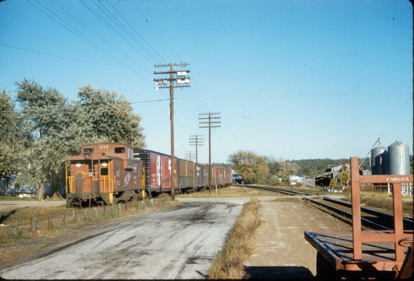 Caboose 237 at Cabool, Missouri in October 1959
