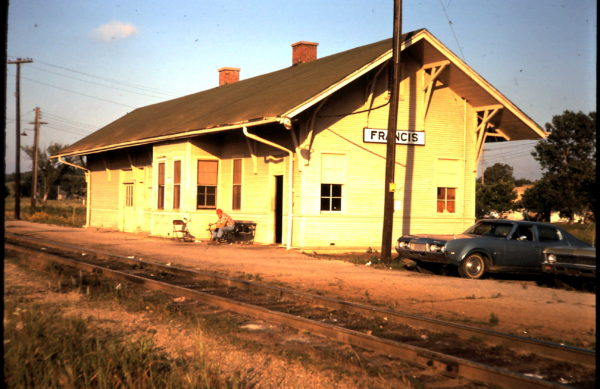 Francis, Oklahoma Depot (date unknown)