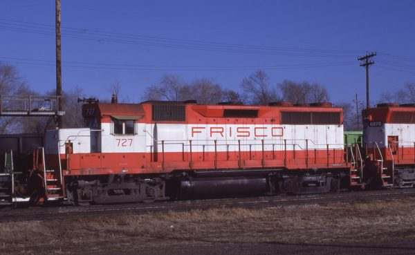 GP35 727 at Lincoln, Nebraska in December 1980 (J.C. Butcher)