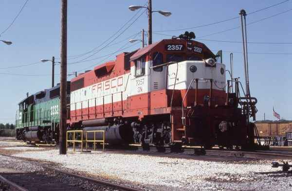 GP38-2 2357 (Frisco 687) at Pensacola, Florida on April 25, 1983 (A.D. Saleker)