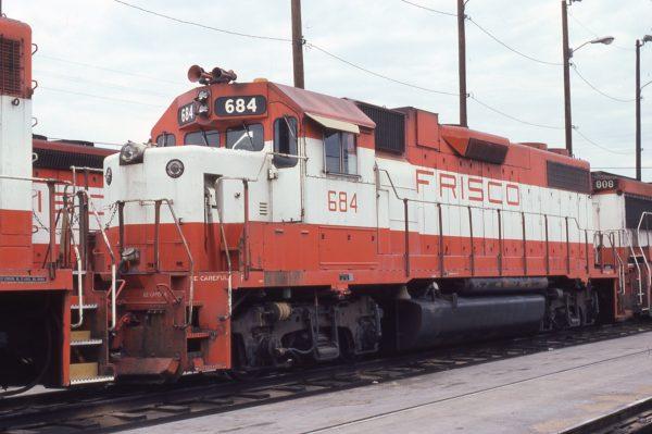 GP38-2 684 at Tulsa, Oklahoma on August 31, 1980 (Pat Wendt)