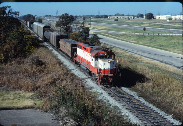 GP38AC 640 at Fort Worth, Texas on November 9, 1980 (Bill Phillips)