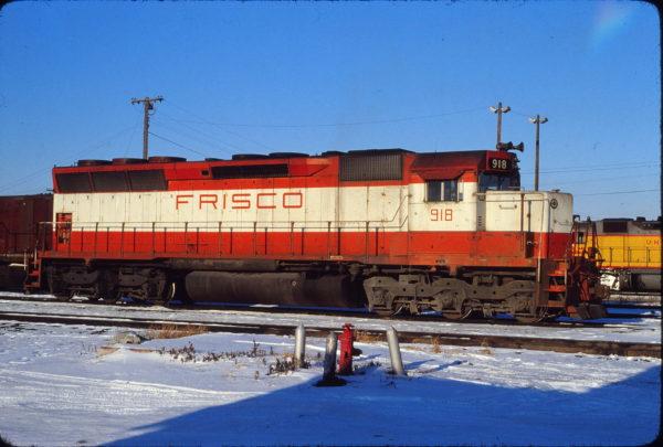 SD45 918 at Council Bluffs, Iowa on December 9, 1978 (Jerry Bosanek)