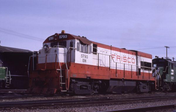 U30B 5793 (Frisco 855) at Lincoln, Nebraska in February 1981 (J.C. Butcher)