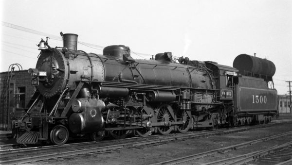 4-8-2 1500 at Lindenwood Yard in St. Louis, Missouri on September 28, 1938
