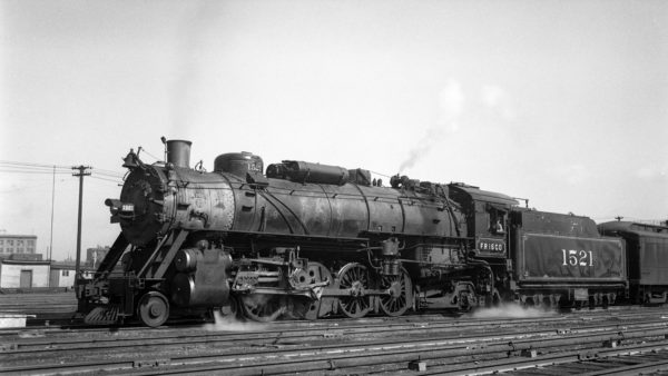4-8-2 1521 at St. Louis, Missouri on February 22., 1946