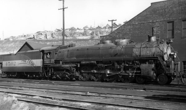 4-8-4 4502 at Kansas City, Missouri in April 1949