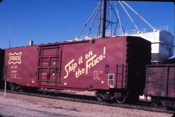 Boxcar 12050 (location unknown) in December 1979 (Bob Dye)