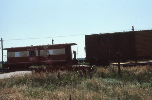 Caboose 11710 (Frisco 1735) (location unknown) in August 1982