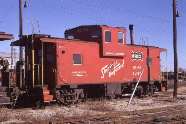 Caboose 1245 at Oklahoma City, Oklahoma on December 11, 1971 (Owen Leander)
