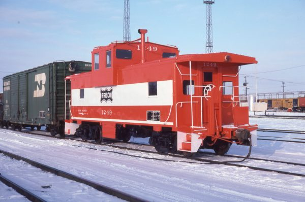 Caboose 1249 at Springfield, Missouri in January 1979