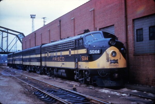 FP7 5044 at Lindenwood Shops, St. Louis, Missouri on July 24, 1961