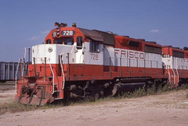 GP35 728 at Springfield, Missouri on August 30, 1980 (P.B. Wendt)