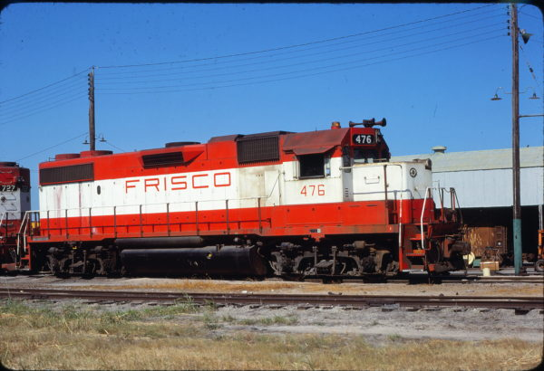 GP38-2 476 at Fort Worth, Texas in June 1980 (James Holder)