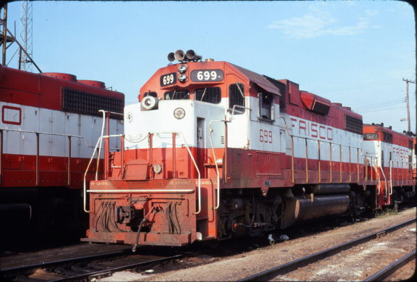 GP38-2 699 at Springfield, Missouri in September 1978 (Neil Shankweiler)