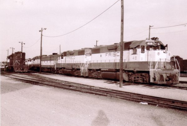 GP38-2s 418 and 408 at Oklahoma, City, Oklahoma (date)