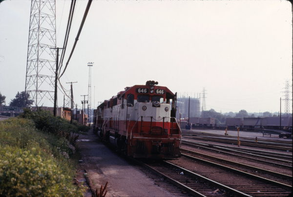 GP38AC 646 at St. Louis, Missouri on June 26, 1975 on an inbound freight