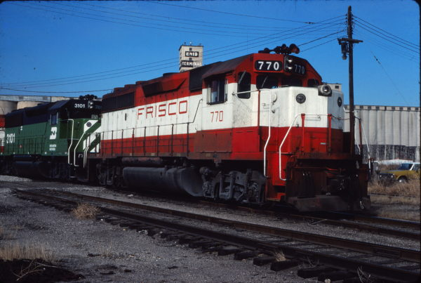 GP40-2 770 at Enid, Oklahoma on January 15, 1981