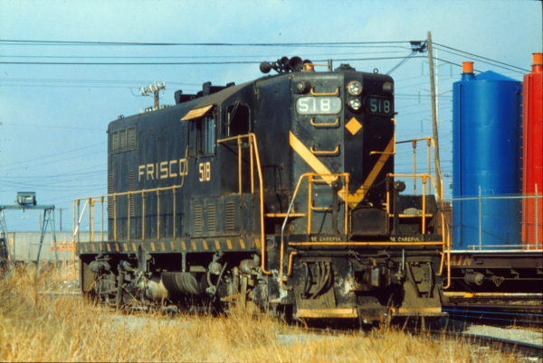 GP7 518 at Irving, Texas in January 1972 (Rail Junction Slides)