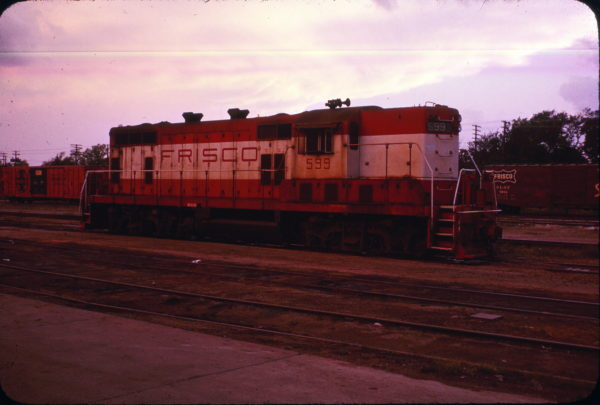 GP7 599 at Paris, Texas in April 1974