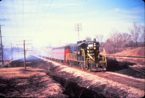 GP7 602 at Fort Smith, Arkansas on February 15, 1963