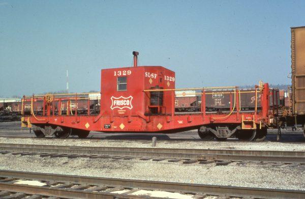 Transfer Caboose 1329 at Birmingham,, Alabama in 1978