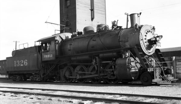2-8-0 1326 at Enid, Oklahoma (date unknown)