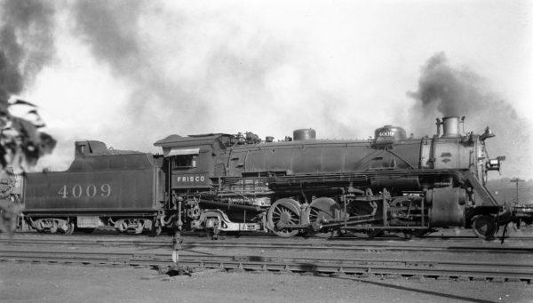 2-8-2 4009 at Monett, Missouri on September 23, 1938