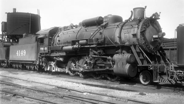 2-8-2 4149 at Tulsa, Oklahoma on July 27, 1947