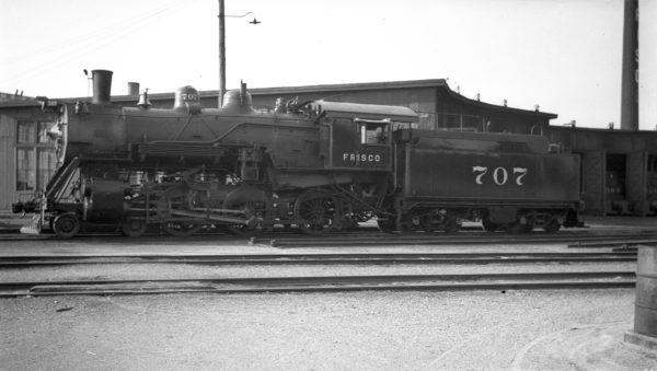 4-6-0 707 at Enid, Oklahoma on May 25, 1938