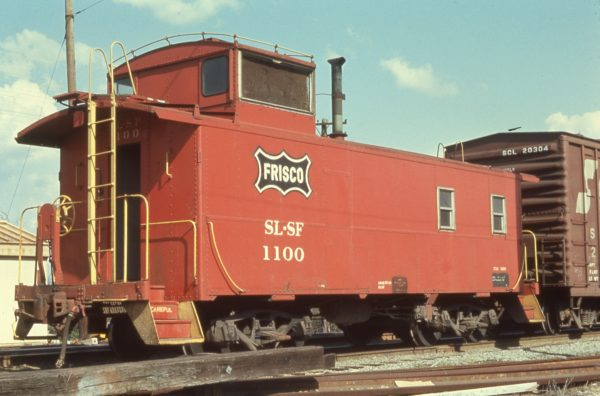 Caboose 1100 at Tupelo, Mississippi in March 1972