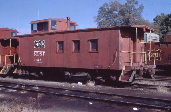 Caboose 1132 at Amory, Mississippi on November 24, 1972