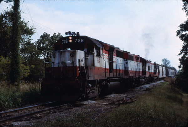 GP35 726 at Denison, Texas in August 1979