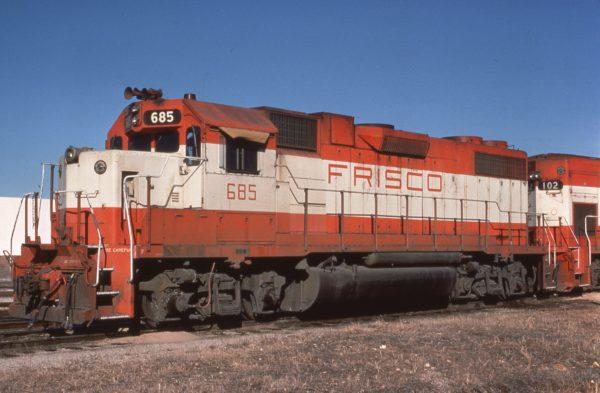 GP38-2 685 at Springfield, Missouri on January 4, 1981