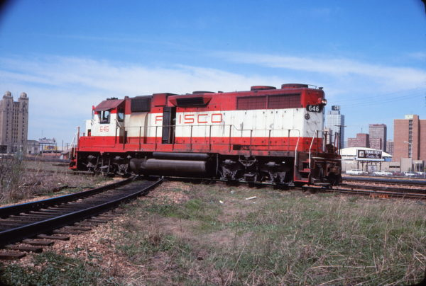GP38AC 646 at Fort Worth, Texas in April 1977 (David Stray)