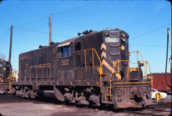 GP7 502 at Fort Worth, Texas on January 17, 1976 (James Holder)