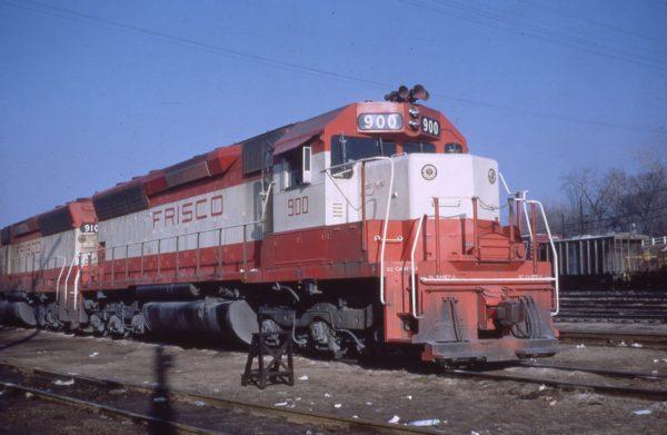 SD45 900 at St. Louis, Missouri on January 21, 1968