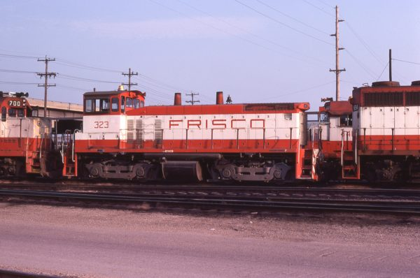 SW1500 323 at Springfield, Missouri in July 1978