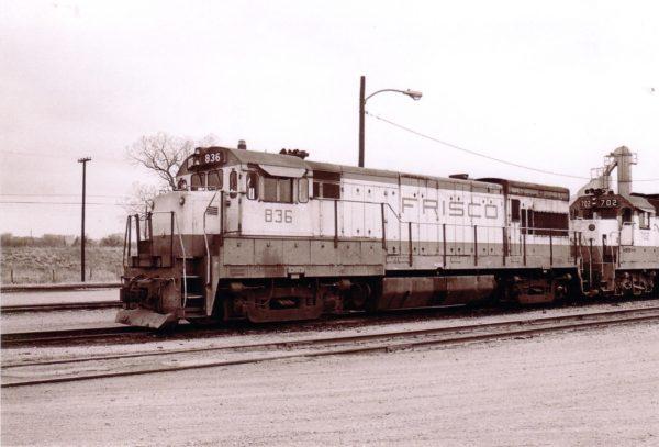 U30B 836 and GP35 702 at Oklahoma, City, Oklahoma (date unknown)