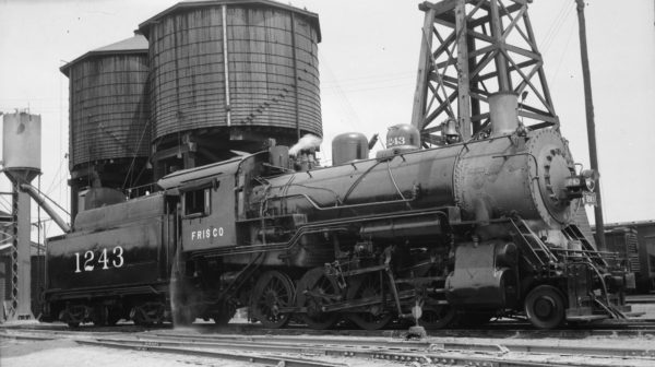 2-8-0 1243 at Sherman, Texas on August 15, 1948