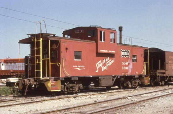 Caboose 1231 at Tulsa, Oklahoma in August 1973