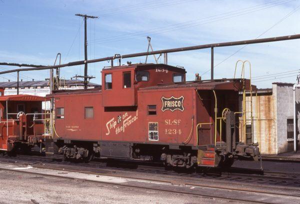 Caboose 1234 at Kansas City, Kansas on July 9, 1977 (G.H. Menge)