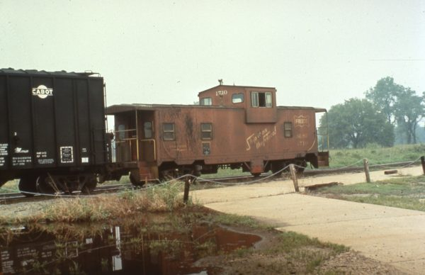 Caboose 1710 at Denison, Texas in 1977