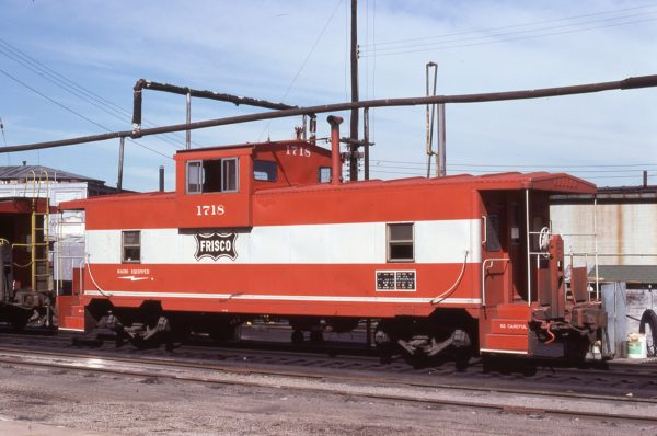 Caboose 1718 at Kansas City, Missouri on July 9, 1977 (G.H. Menge)