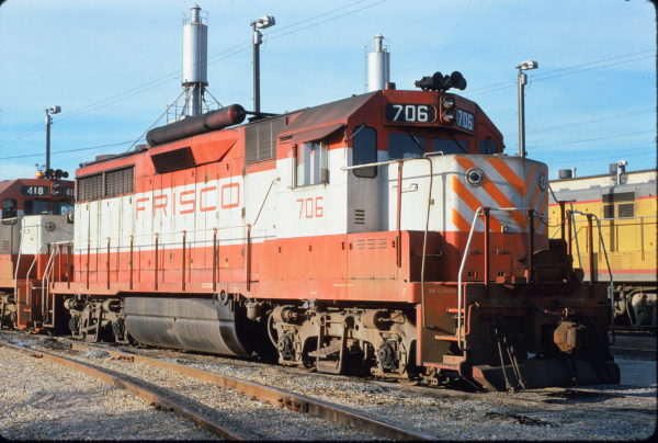 GP35 706 at Memphis, Tennessee on November 4, 1974 (Alan Lanier)