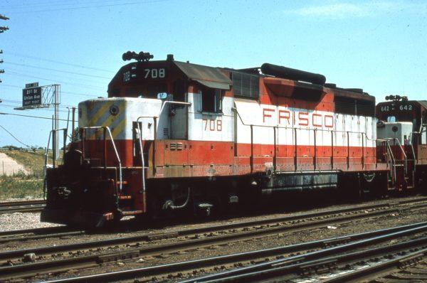 GP35 708 at Tulsa, Oklahoma (date unknown) Harry Stegmaier