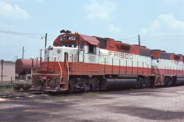 GP38-2 452 (location unknown) in March 1977 (Frank Novak)