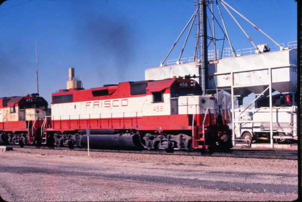 GP38-2 458 (location unknown) in December 1979 (Bob Dye)